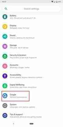 google-backup-settings